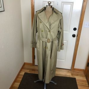 Vintage Burberry Trench Coat with Wool Vest Liner
